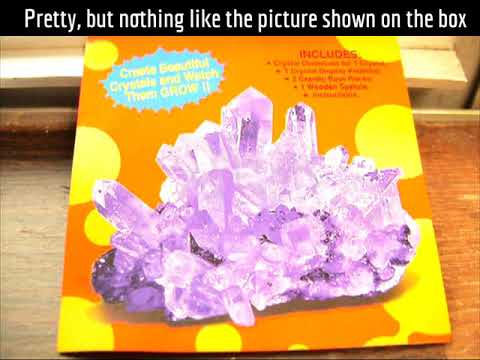 1 Crystal Growing Kit Easy Instructions Youtube