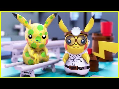 POKEMON Doctor Pikachu In Lego City - Pokemon Episode