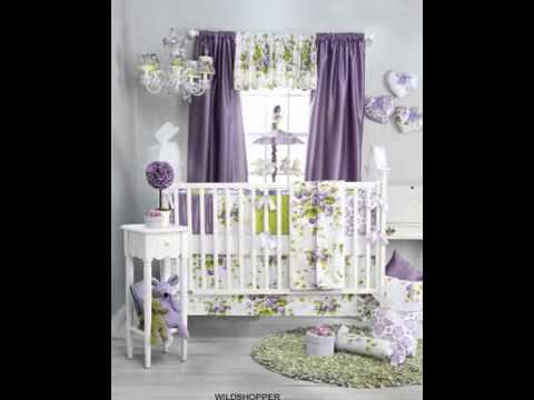 Sweet Violets 4 Piece Baby Crib Bedding Set By Glenna Jean