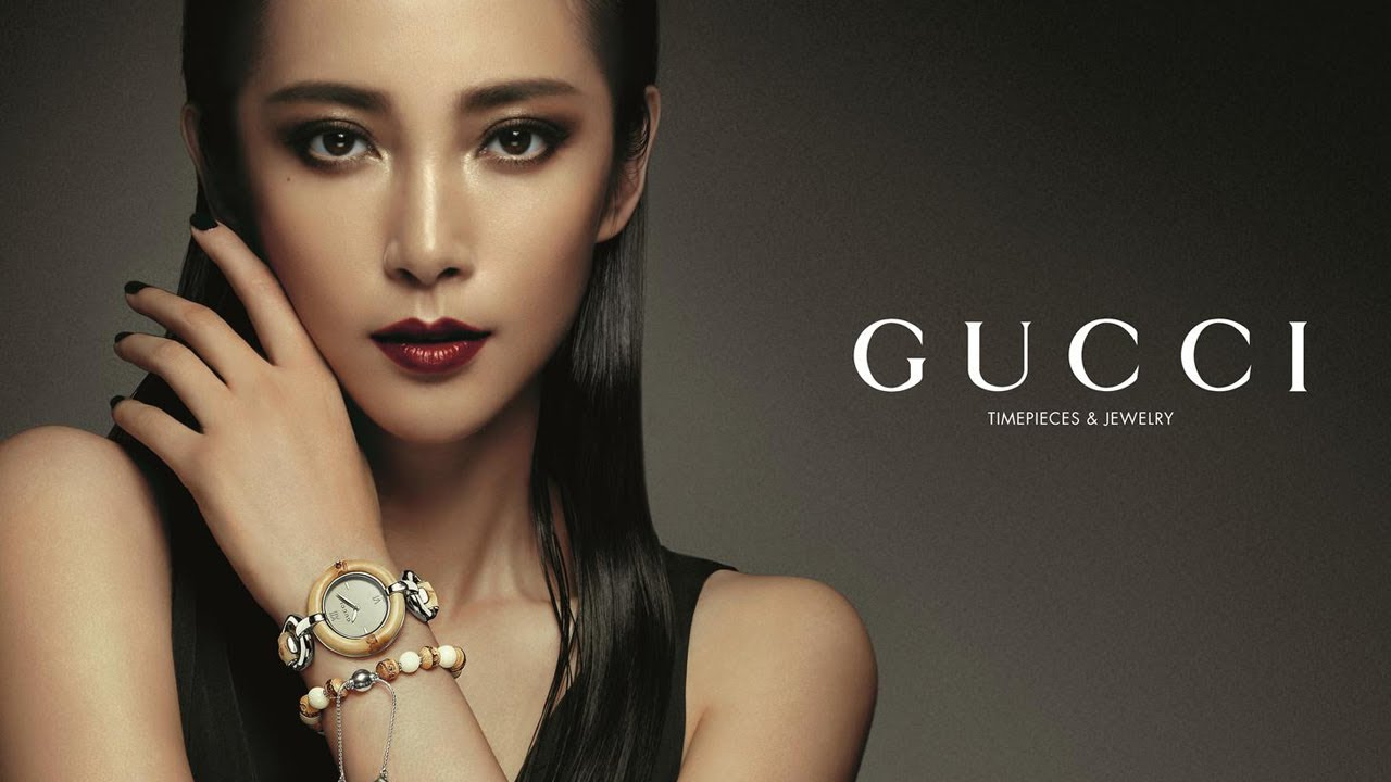 a244642aaa Li Bingbing on the Gucci Timepieces & Jewelry Bamboo Collection