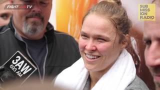 UFC 193: Ronda Rousey Media Scrum (Full)