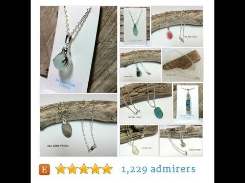 Genuine fun and colorful English sea glass jewelry created