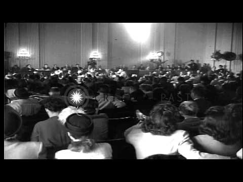 Hollywood actors testifiy before House Un-American Activities Committee in Washin...HD Stock Footage