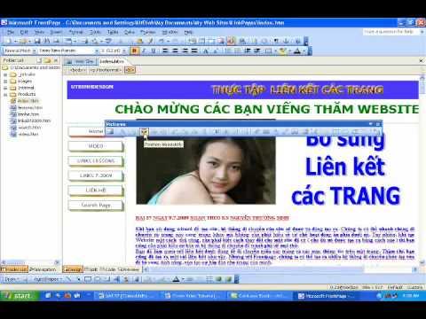 FRONTPAGE 2003  THIẾT KẾ WEB LIÊN KẾT 11 7 2009 TẬP1