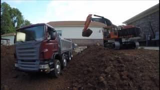 7 Bones RC Construction - 330D and Scania Dump Truck - 8 Aug 2016