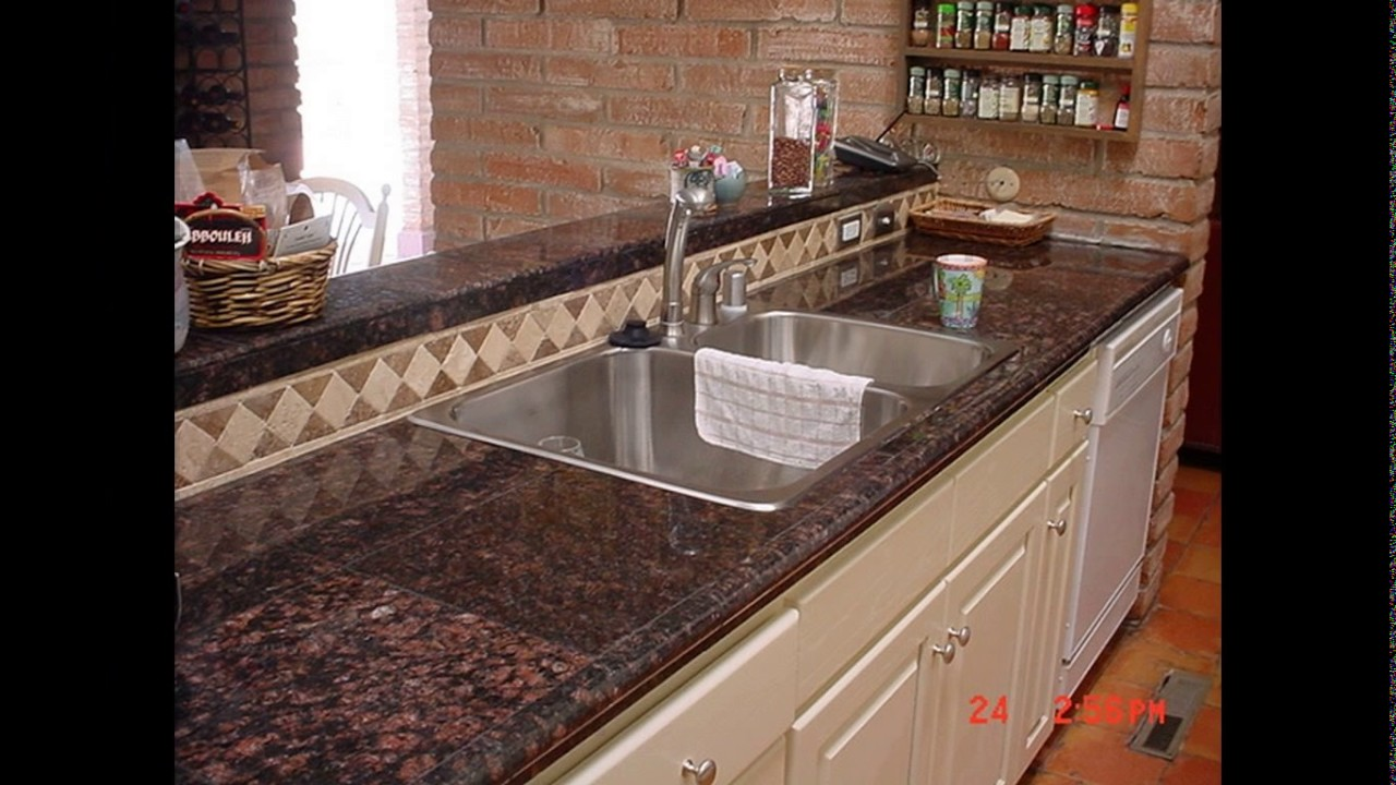 Granite tiles kitchen designs - YouTube