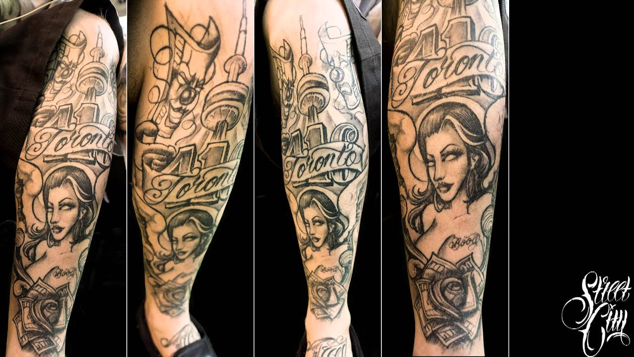 Boog Star - Leg Tattoo Time Lapse Toronto 2014 - YouTube