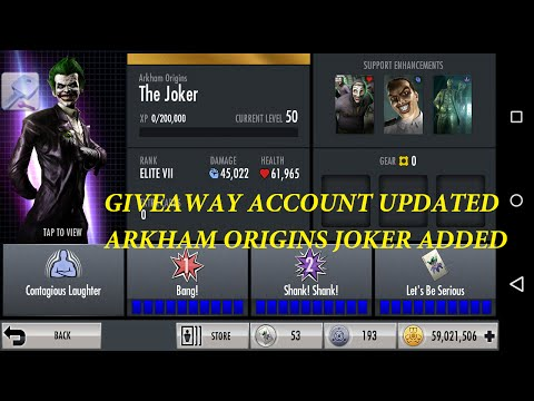 56.INJUSTICE: ARKHAM ORIGINS JOKER FULLY MAXED SPECIAL And SUPER