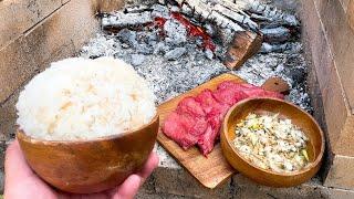 出汁が染みわたる!極厚牛タン➡極みネギ塩ダレ➡爆盛りマンガ飯のデルタアタック!