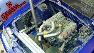 IT BEGINS! Sonic Stang Junkyard 5.3 LS Turbo Hotside Build Part 1   Its a Start... Deez Nuts
