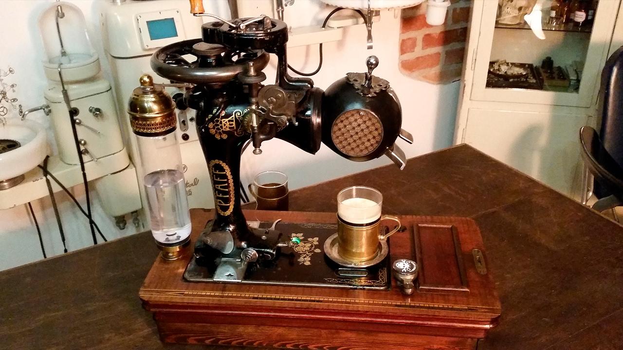 Steampunk Coffee Machine Pfaff Espresso 1900 Youtube