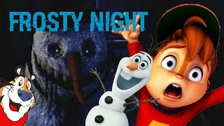 Alvin plays Frosty Nights | Scary Snowmans Inside My House!!! ⛄