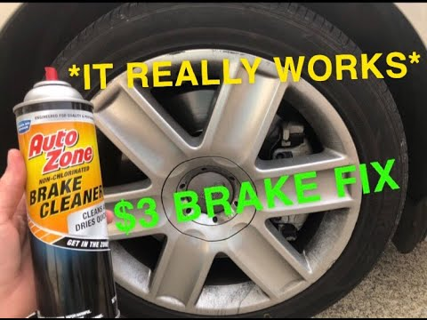 Does Brake Cleaner Work? - How To Fix Squeaky Brakes and Clean Them Quick And Easy (Noisy Brake Fix)