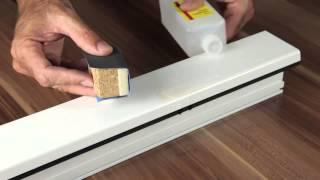 Oprava jemných škrábanců na bílých plastových oknech