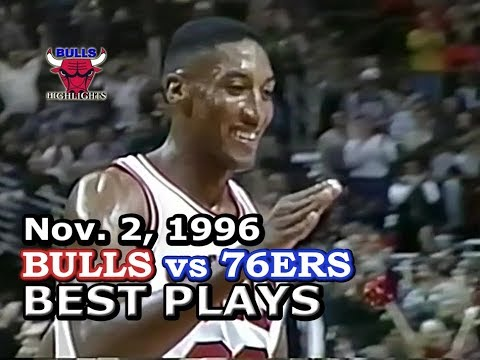 November 2, 1996 Bulls vs 76ers highights