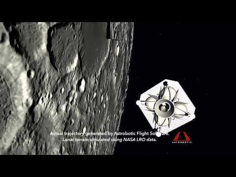 Astrobotic's Griffin Lander: Lunar Flight Simulation