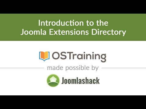 Joomla Beginner Class, Lesson 31: Introduction To The Joomla Extensions Directory