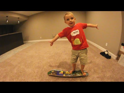 "4 YEAR OLD ""TEACHES"" CARPET BOARDING! And More!"