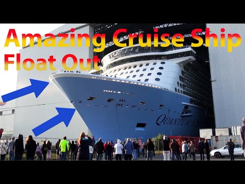 Highlights Float Out QUANTUM OF THE SEAS at Meyer Werft ...Quantum Of The Seas Float Out