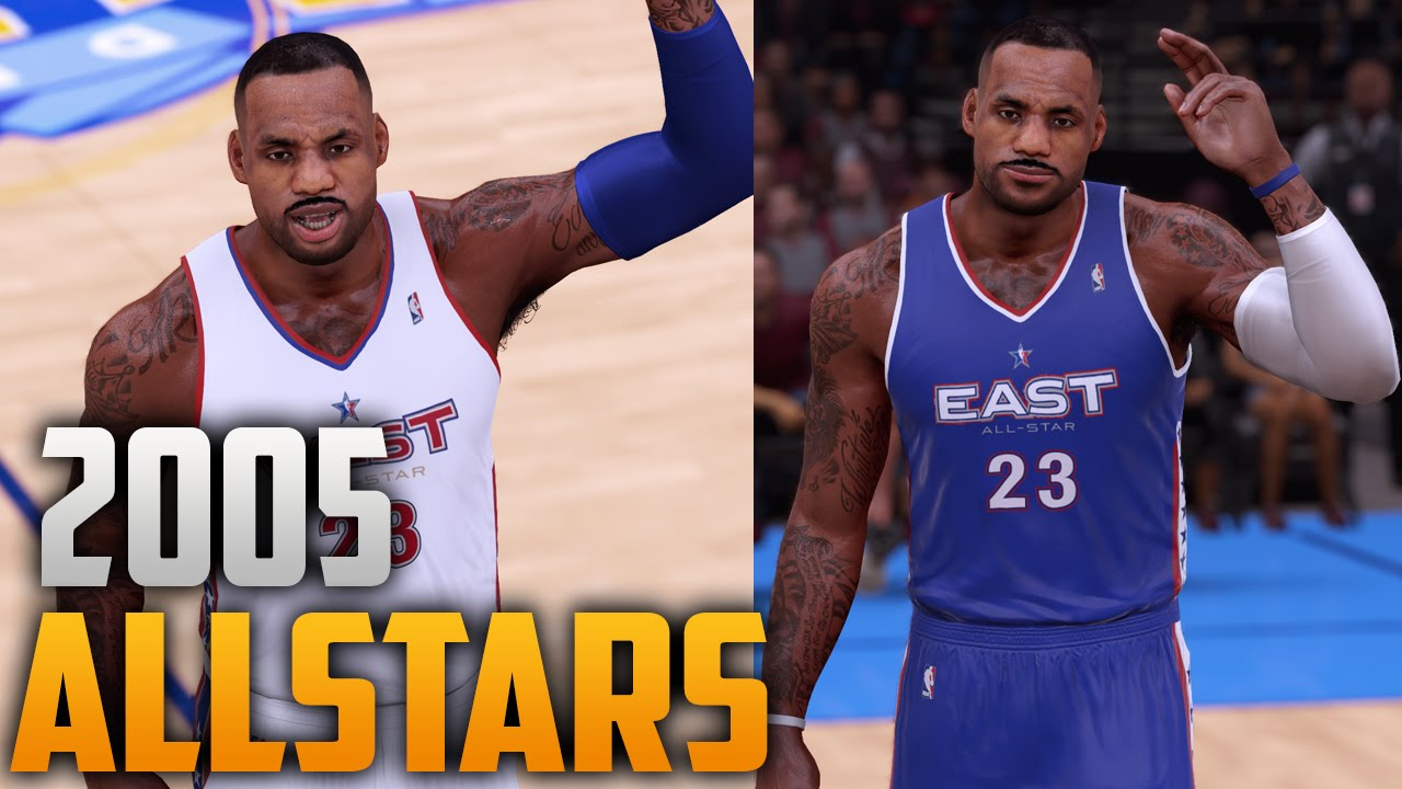 825cae736 NBA 2K16 2005 All Star Jersey   Court Tutorial - YouTube