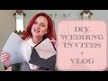 DIY WEDDING INVITATIONS + VLOG
