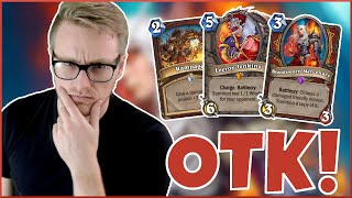 Hearthstone | TIME'S Up Let's Do THIS! | Wild Charge OTK Warrior | Saviors of Uldum