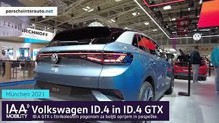 Volkswagen ID.4 GTX 2021 -  V živo iz avtosalona IAA Mobility Munich 2021!