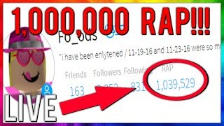 TRADING WITH 1 MILLION RAP! | ROBLOX TRADING LIVESTREAM