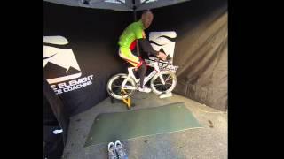 E3 Calf Bike Stretch