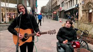 HALIFAX & BRADFORD BUSKER Frankie Porter Sings I'll Never Find Another You