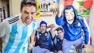 España 6 Argentina 1 | Reacciones de Amigos | Partido Internacional 2018 thumbnail