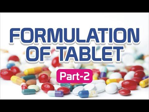 FORMULATION OF TABLET   TABLET EXCIPIENTS   PART - 2