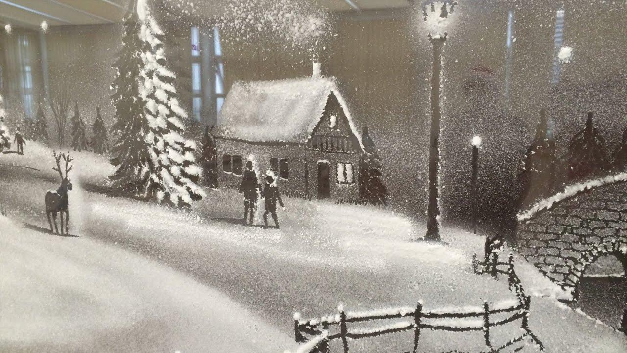Snow Spray Art - YouTube