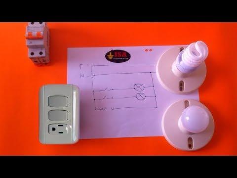 Cómo Instalar Dos Interruptores Y Una Toma Eléctrica