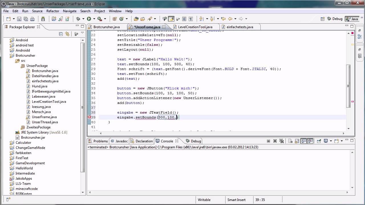 Java Tutorial 71 - Textfeld - YouTube