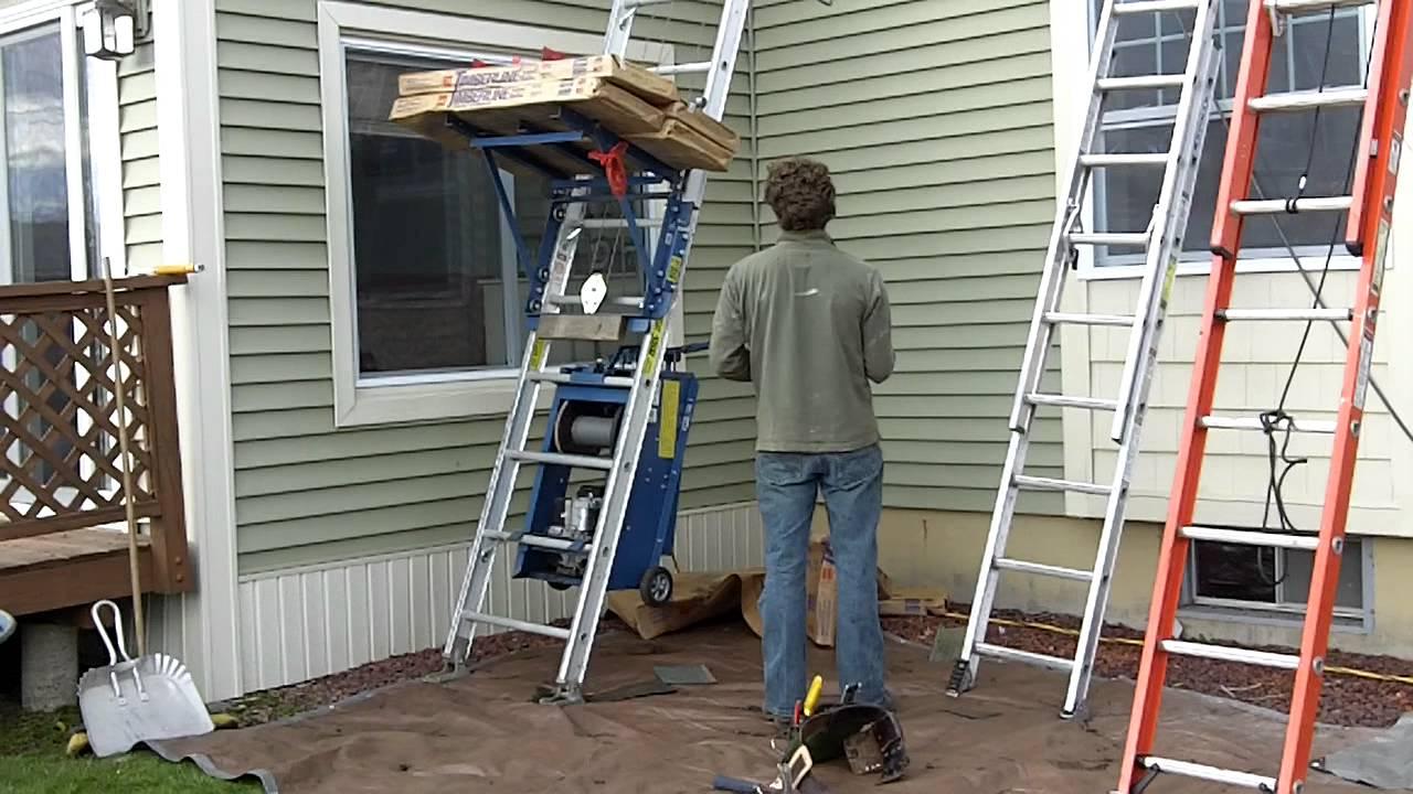 Www Restezpropertyservices Com Construction Shingle Lift Or Hoist Mov
