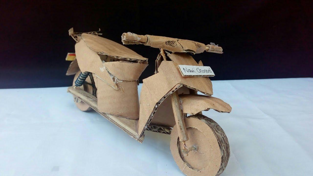 Cara Membuat Miniatur Motor Matic Dari Kardus By Nawi Channel