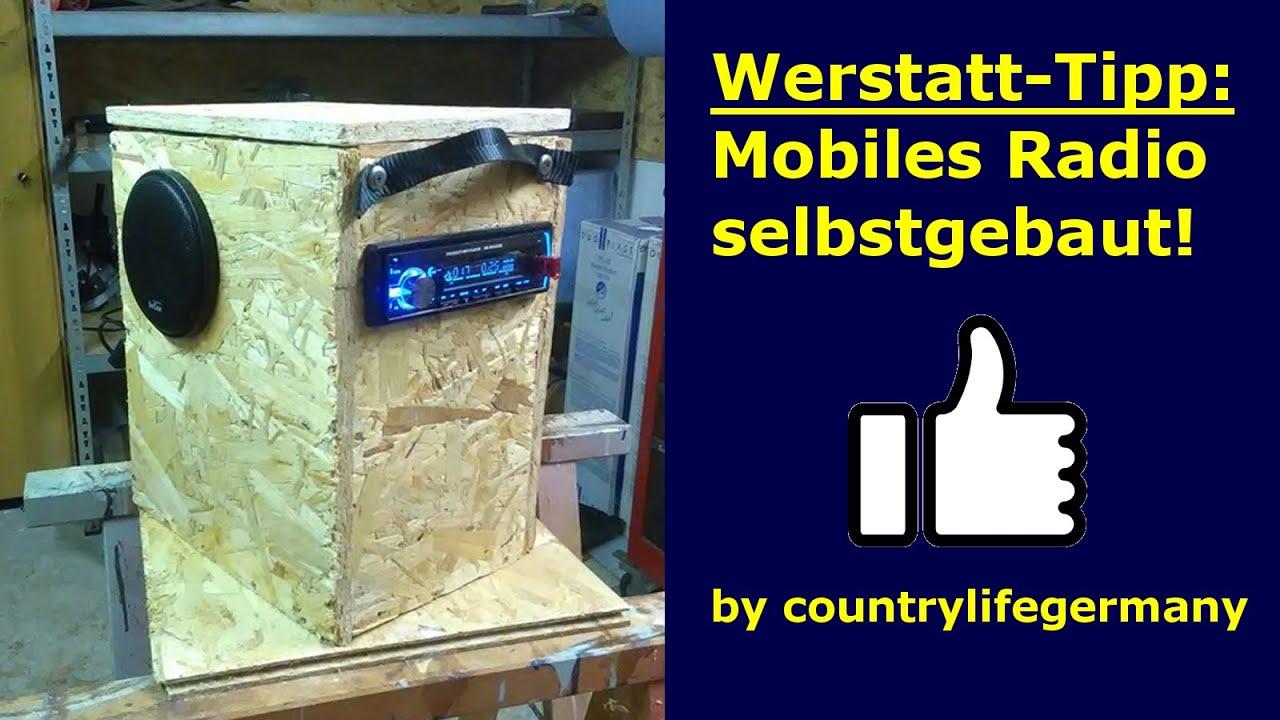 """werkstatt-tipp: mobiles radio selbstgebaut """"do it yourself"""" - youtube"""