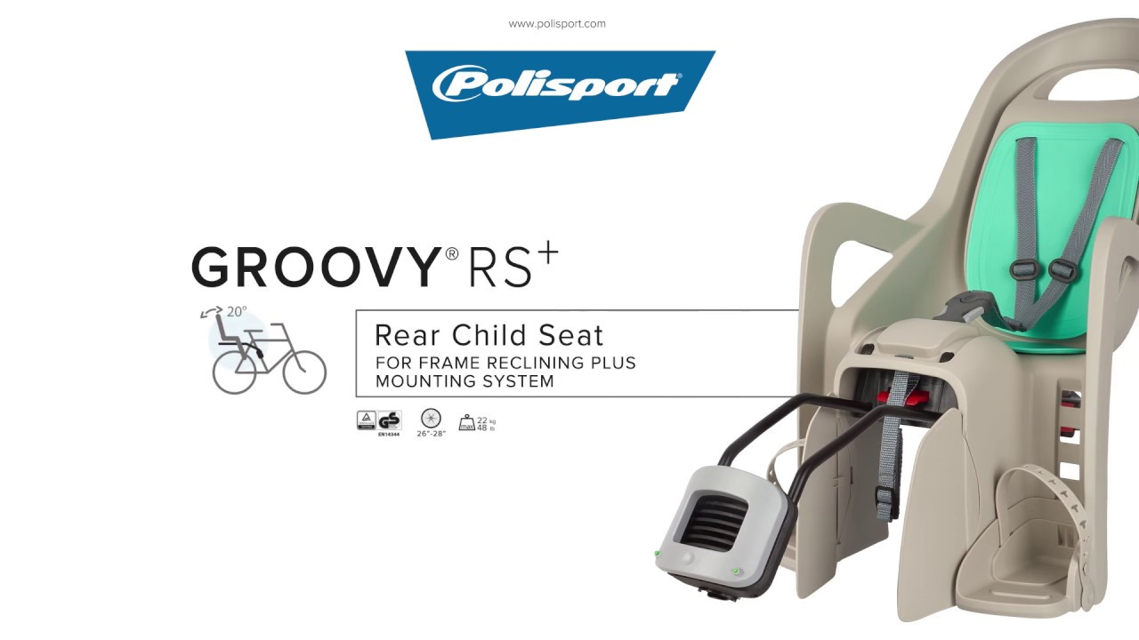 Groovy rear baby seat recliner frame mount white POLISPORT kids