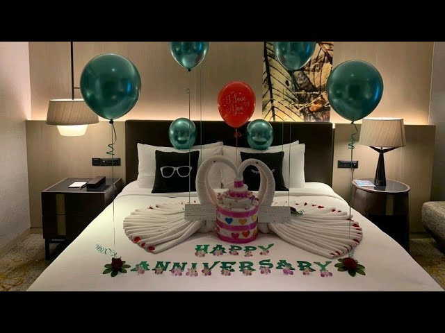 Anniversary Room Decoration Ideas At Hotel Home Romantic Love Youtube