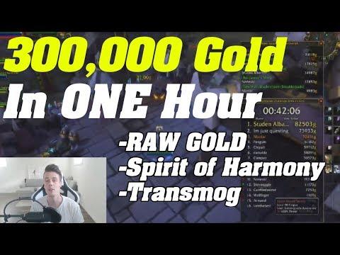 WoW: 300k+ in one hour! | Raw Gold - Transmog - Spirit Of Harmony Farm |