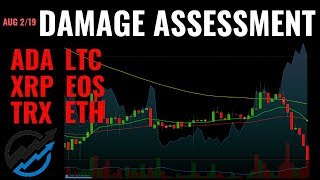 Ethereum to NEW LOWS? DAMAGE ASSESSMENT for ADA, EOS, ETH, LTC, TRX, XRP | August 3 2019