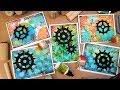 Distress Oxides + Color Burst + Gesso = Fun Inky Cards!