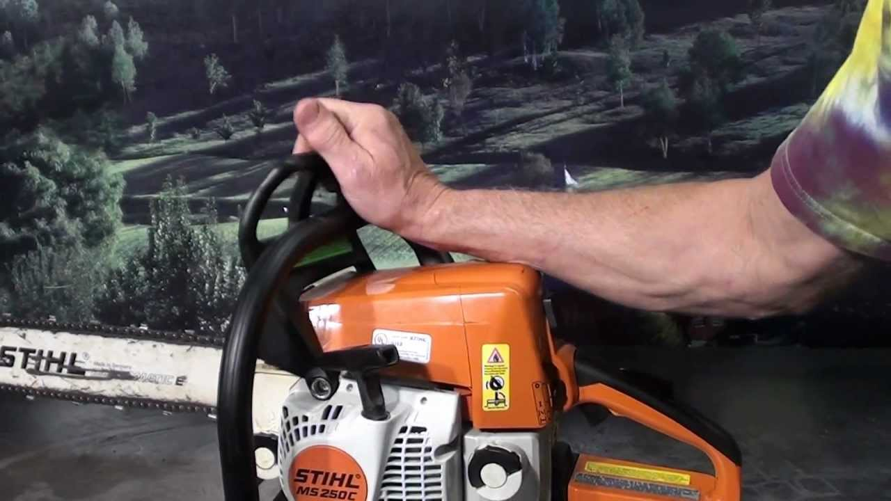 The chainsaw guy shop talk Stihl MS 250 Easy Start 5 30 MTS