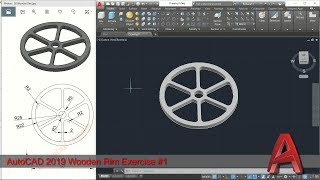 AutoCAD 2019 3D Modeling Wooden Rim Tutorial Graphic Design Software