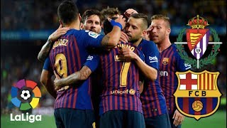Barcelona face real valladolid live from estadio josé zorrilla, in the second round of la liga matches on saturday night.barcelona will be looking to follow ...