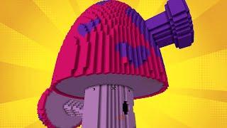 Minecraft vs Zombies | GIGA PERFUME-SHROOM (SQUEEZE ME!) | PvZ  Land