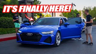 TAKING DELIVERY OF THE 1ST AUDI RS6 AVANT IN THE USA! *1 OF 25 IN NOGARO BLUE*