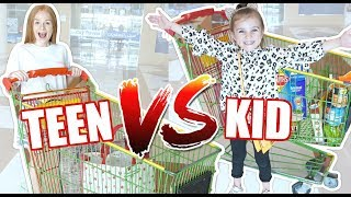 Kids GROCERY SHOPPING Challenge: PREGNANCY CRAVINGS!!!