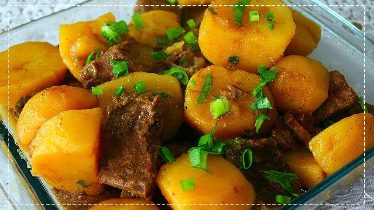 Agua De Batata Para Escurecer O Cabelo carne de panela com batatas